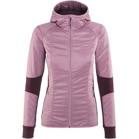 Icebreaker Helix LS Zip Hood Jacket Women Opal/Velvet/Jet Heather